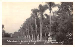 San Marino California Huntington Estate Real Photo Antique Postcard K79317
