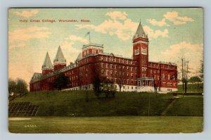 Worcester MA, Holy Cross College, Jesuit Vintage Massachusetts Postcard