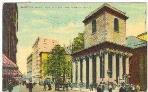 King's Chapel & Tremont Street, Boston, MassachusettsPU-1912