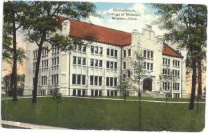 Gymnasium, College of Wooster, Wooster, Ohio, OH, Divided Back