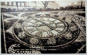 Edinburgh Scotland - Floral Clock - B&W Unused Vintage