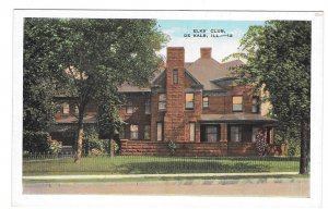 Elks Club Fraternal Order De Kalb Illinois Vintage Postcard