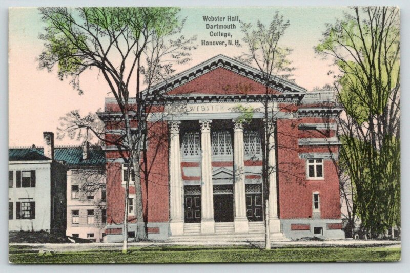 Hanover New Hampshire~Dartmouth College~Webster Hall~Buildings Beside~c1910