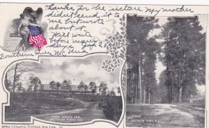 SOUTHERN PINES, North Carolina, PU-1906; Piney Woods Inn, Country Rd