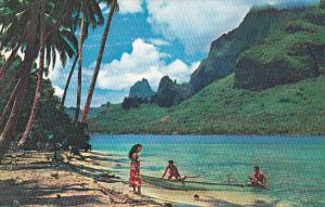 Tahiti Paopae Bay Known As Cook's Bay At Moorea Pan American World Airways