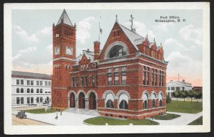 Post Office Wilmington North Carolina Unused c1910s