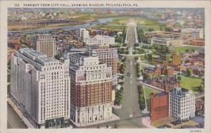 Pennsylvania Philadelphia Parkway From City Hall Showing Museum
