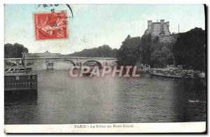 Old Postcard The Seine At Paris Pont Royal
