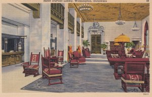 WILMINGTON, Delaware, 1930-40s ; Hotel Dupont Lobby