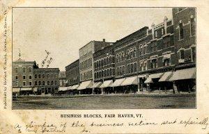 VT - Fair Haven. Business Blocks circa 1900