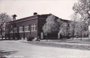 South Dakota Tripp High School 1953 Real Photo RPPC