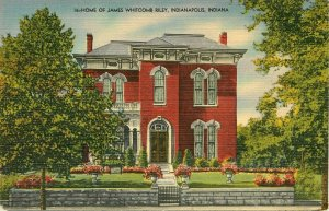 James Whitcomb Riley Home Indianapolis Indiana IN Postcard