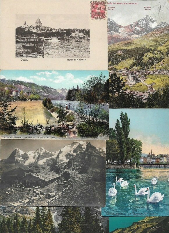 Switzerland - Postcards Lot of 20 RPPC Printed and Embossed   01.02