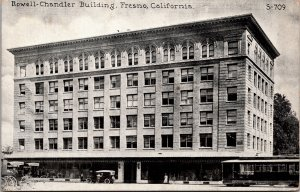 Fresno CA Rowell-Chandler Building Postcard used 1921