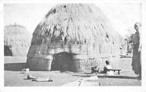 br104398 swaziland south africa hut  africa real photo