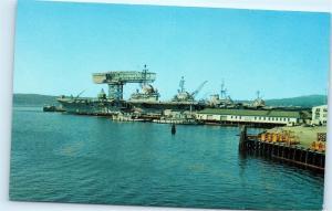 *U.S. Naval Shipyard Bremerton Washington Hammerhead Crane Vintage Postcard A33