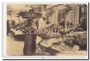 Nice Old Postcard The flower market TOP