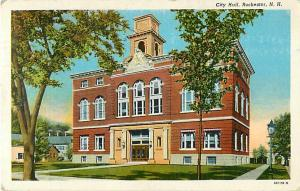 City Hall Rochester NH New Hampshire 1946 Linen