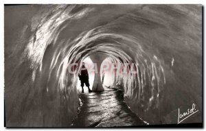 Modern Postcard Chamonix Montenvers Ait Cave Of The Sea Ice entrance to the cave