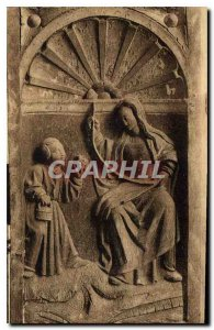 Postcard Ancient Church of Rampillon S and M Altarpiece sixteenth Madonna and...