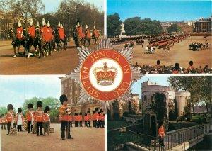 England  London the Household Brigade parade multiview emblem Postcard