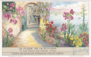 Liebig Trade Card s1354 Flora Of The Riviera No 3 San Remo La vieille ville