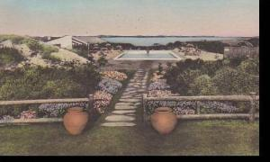 Maine Prouts Neck Black Point Inn Pool Handcolored Albertype