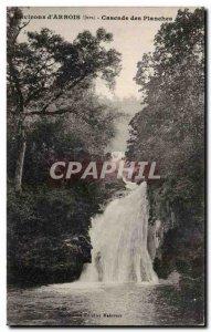 Old Postcard Environs d & # 39Arbois Cascade boardwalk