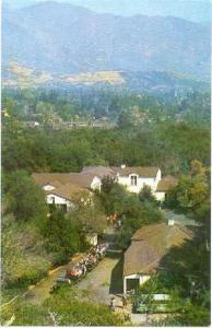 View of Hospitality House, Descanso Gardens, La Canada, California, CA, Chrome