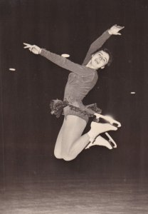 RP: Figure Skater EVA GROZAJOVA, Autographed, 1960s (2)