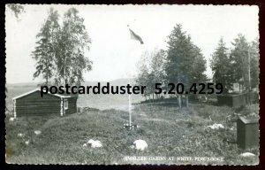 4259 - KIPPEWA LAKE Quebec 1950s White Pine Lodge. Real Photo Postcard
