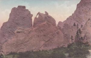 Colorado Colorado Springs Garden Of The Gods Bear And Seal Albertype