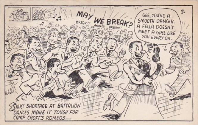 Military Humour Battalion Dance Gee You're A Smooth Dancer May We Break 1942