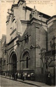 CPA Paris 14e Paris-Église N.-D. du Travail (311024)
