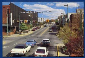 Niles Michigan mi Main street scene view chrome postcard