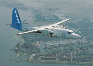 KLM Cityhopper Fokker 50 Airplane, 80-90s