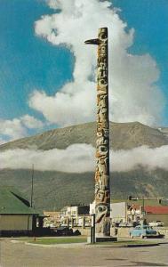 The Totem Pole Near The Canadian National Depot At Jasper, Alberta, Canada, 1...