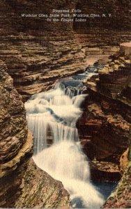 New York Watkins Glen Diamond Falls 1950 Curteich