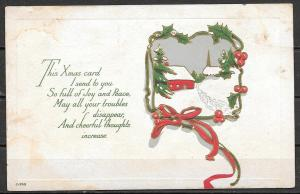 1918 Christmas Greetings, mailed from Auburn NY