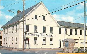 Harmony Museum Harmony Pennsylvania PA Chrome