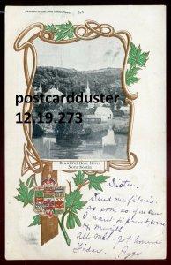 273 - BEAR RIVER Nova Scotia 1906 Panorama. Patriotic Maple Leaf by Warwick