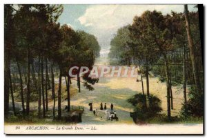 Old Postcard The Great Dune Arcachon
