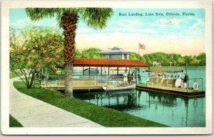 Vintage 1920s ORLANDO, Florida Postcard Boat Landing, LAKE EOLA Kropp Unused