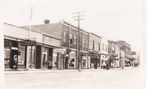 RP:LITTLE CURRENT, Ontario, Canada, 10-30s; Main Street, Storefronts, Drug Store
