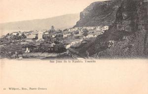 San Juan de la Rambla Spain birds eye view of area antique pc Y10688