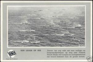 WWII, Allied Ships heading towards Africa 40s Dutch Ed