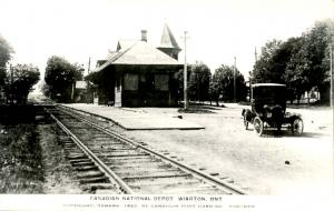 Canada - ON, Wiarton. Canadian National Depot, 1923