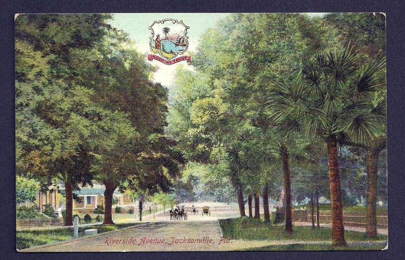 Riverside Avenue Jacksonville Florida unused c1910