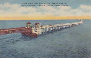 Bridge across Lake Pontchartrain, New Orleans, Louisiana,  30-40s