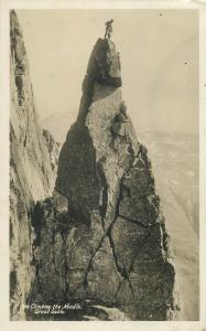 Climbing the Needle Great Gable alpinism vintage real photo postcard